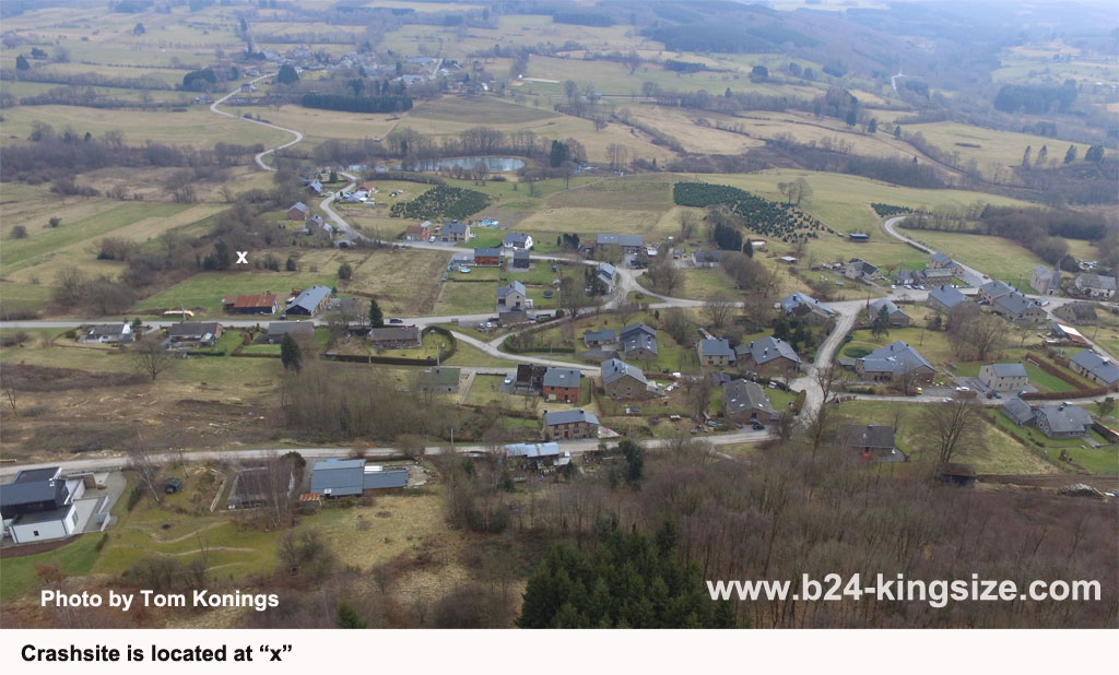 Crashsite King Size and the village of la Fosse